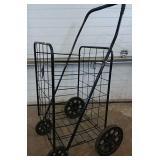 4 wheeled folding push cart 18Wx17Lx40H inches