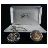 Masons watch and coin set
