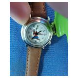 Working leather Disney watch
