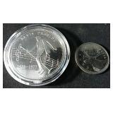 Elvis Presley collectors coin in protective case