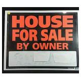 19x24 House for sale sign in plastic, paper is