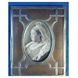 Antique queen of England photograph, condition as