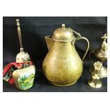 Brass Teapot & Extras
