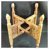 Ornate Carved Folding Pedestal stand