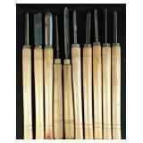 10 Wood lathe Chisels