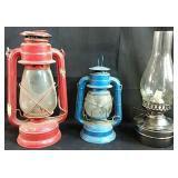 3 oil lamps