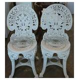 2 Resin bistro chairs - need cleaning
