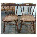 2 solid hardwood chairs