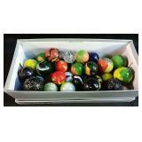 variety of marbles - jumbo and super jumbo