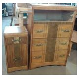 Matching Waterfall front nightstand and dresser -