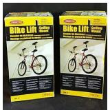 2 Ceiling mount bike lifts - appear complete