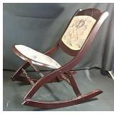 Antìque folding rocking chair