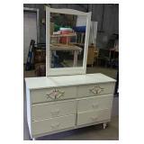 """6 drawer Dresser with mirror  48"""" x 17"""" x 68"""""""