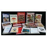 hard & soft covered cookbooks etc