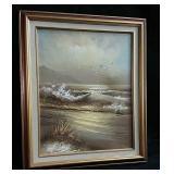 """Framed oil painting  21"""" x 24"""""""