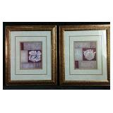 "Two framed pictures  19"" x 21"""