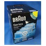Unopened box of 3 Braun clean and renew