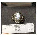32L- sterling silver mother of pearl ring $160