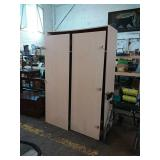 Large MDF open-faced wardrobe, 47 x 72, needs TLC