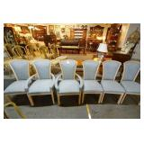 Set of Six upholstered dining Chairs