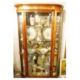 China Cabinet with curved glass