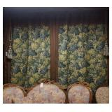 Pair of brocade curtains