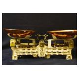Antique Cast Iron & Brass balance scale