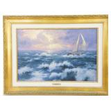 "Thomas Kinkade  18""x27"" Giclee Seascape on canvas"
