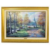 "Thomas Kinkade 24""x36""  Giclee on canvas"