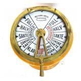 19th c. Brass Scottish Nautical Telegraph