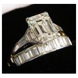 A 14kt gold 3.64 carat Deco Diamond Ring