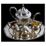 International Wedgwood sterling 4 pc tea set 1836g