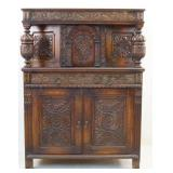 American Feudal carved China Cabinet
