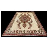 Semi antique Tabriz camel ground wool rug