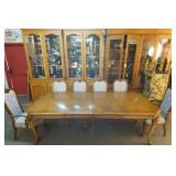 7 Piece Walnut Albert & Zimmerman Dinning Room Set
