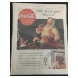 Vintage Coca-Cola Saturday Evening Post Ad