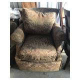 Set of 2 Custom Upholstered Club Chairs