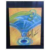 Original on Canvas - Blue Martini