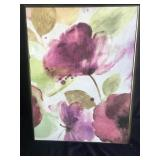 Framed Print on Canvas - Pink Flower