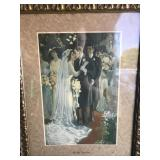 Framed Victorian Lithograph