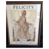 Vintage American Girl Poster- Felicity