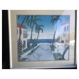 Framed Ocean View Wall Art