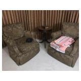 Pair of Custom Swivel Chairs