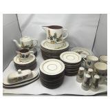 Vintage Stangl Pottery Dish Set - Golden Blossom