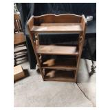 """Wood shelf 34"""" tall  20th inches wide"""