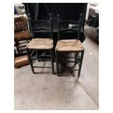 To ladder back chairs