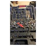 Assorted craftsman  tools and black case