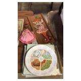 Assorted items including tote