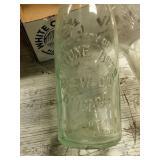 Old bottles and fridge jar.