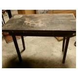 Primative wooden table 39 x 21